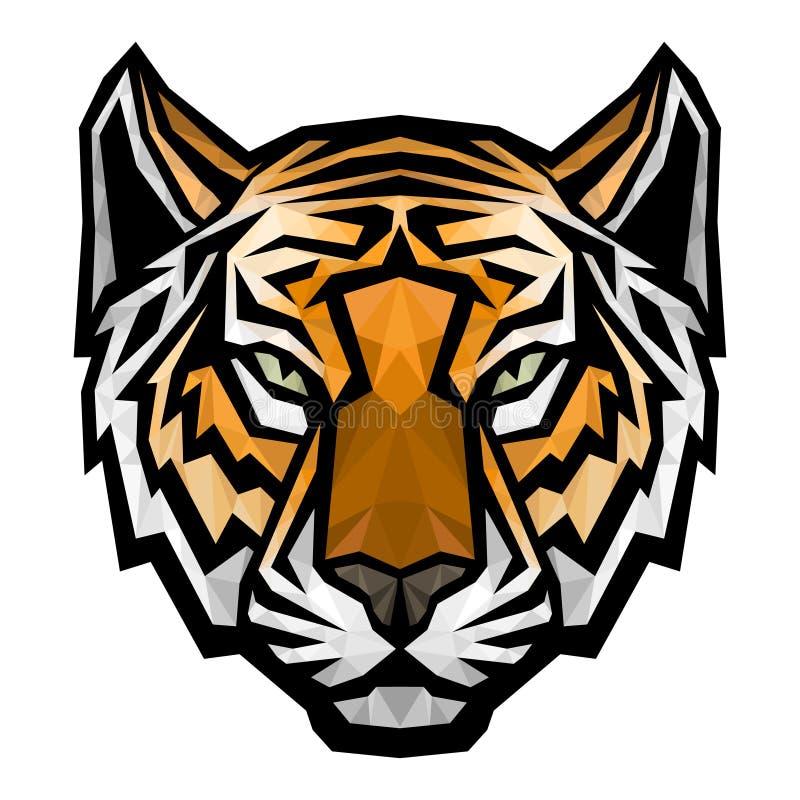 Tygrysa loga kierownicza maskotka na białym tle ilustracji