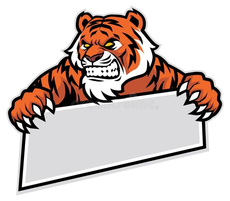 Tygrysi chwyt sztandar ilustracji