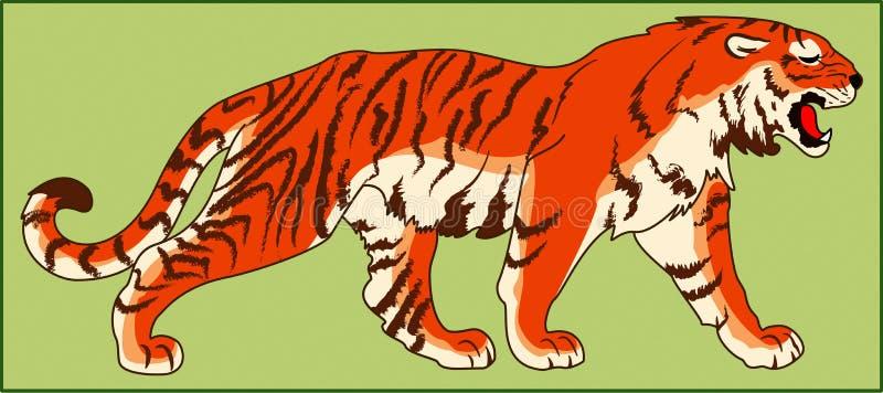 TYGRYSI DRAPIEŻCZY zwierzę royalty ilustracja