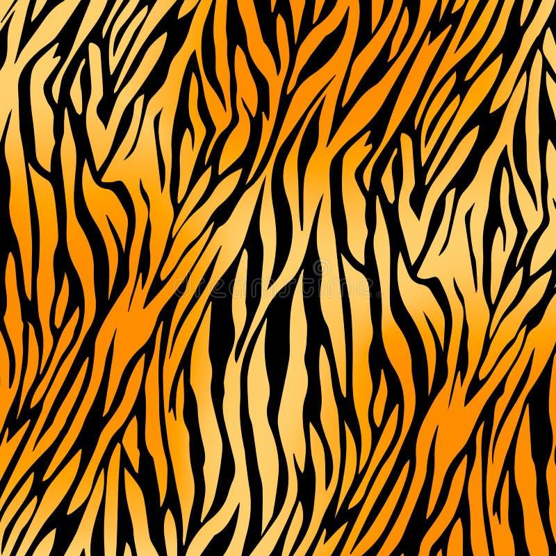 Tygrysi druku tło ilustracja wektor