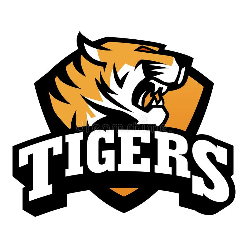 Tygrysi loga szablon ilustracji