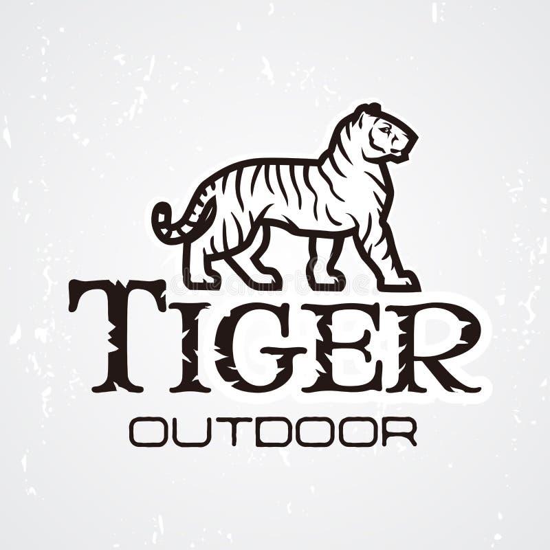 Tygrysi loga wektor Maskotka projekta szablon Sklepu lub produktu ilustracja Wyprawy insygnia, sport drużyny logotyp dalej ilustracja wektor