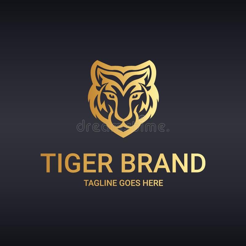 Tygrysi logo ilustracja wektor