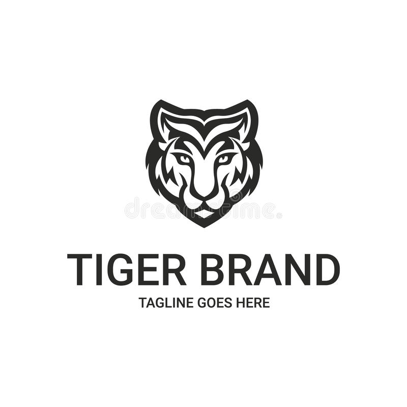 Tygrysi logo royalty ilustracja
