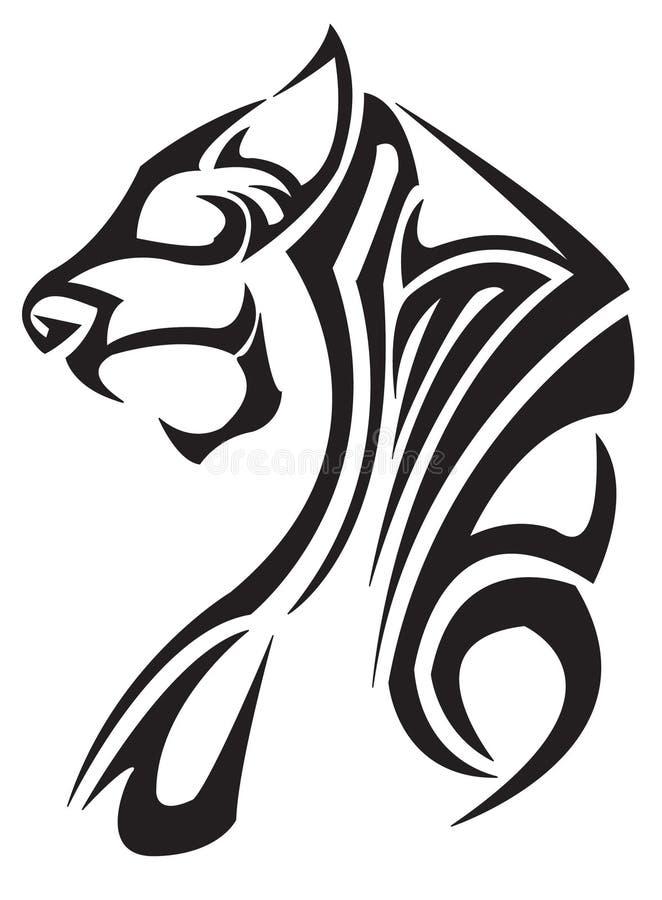tygrysi zodiak ilustracja wektor
