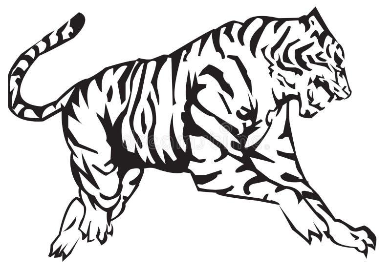 tygrysi zodiak royalty ilustracja