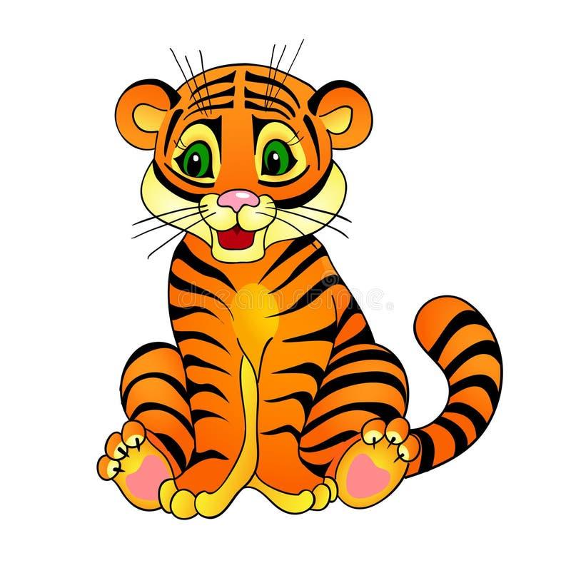 Tygrysia kreskówka ilustracji