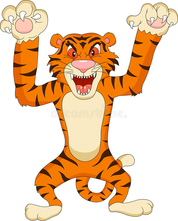 Tygrysia kreskówka royalty ilustracja