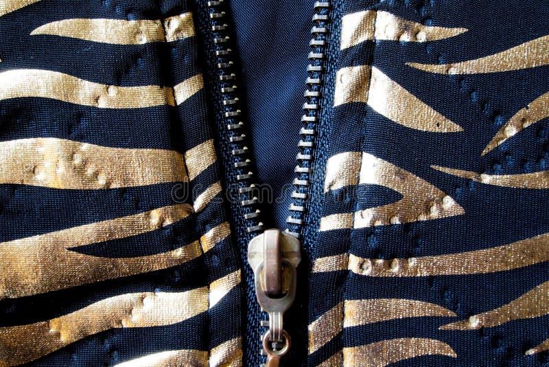 Tygrysia tekstura z otwartym suwaczkiem zdjęcia royalty free