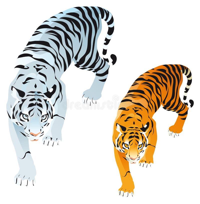 tygrysy royalty ilustracja