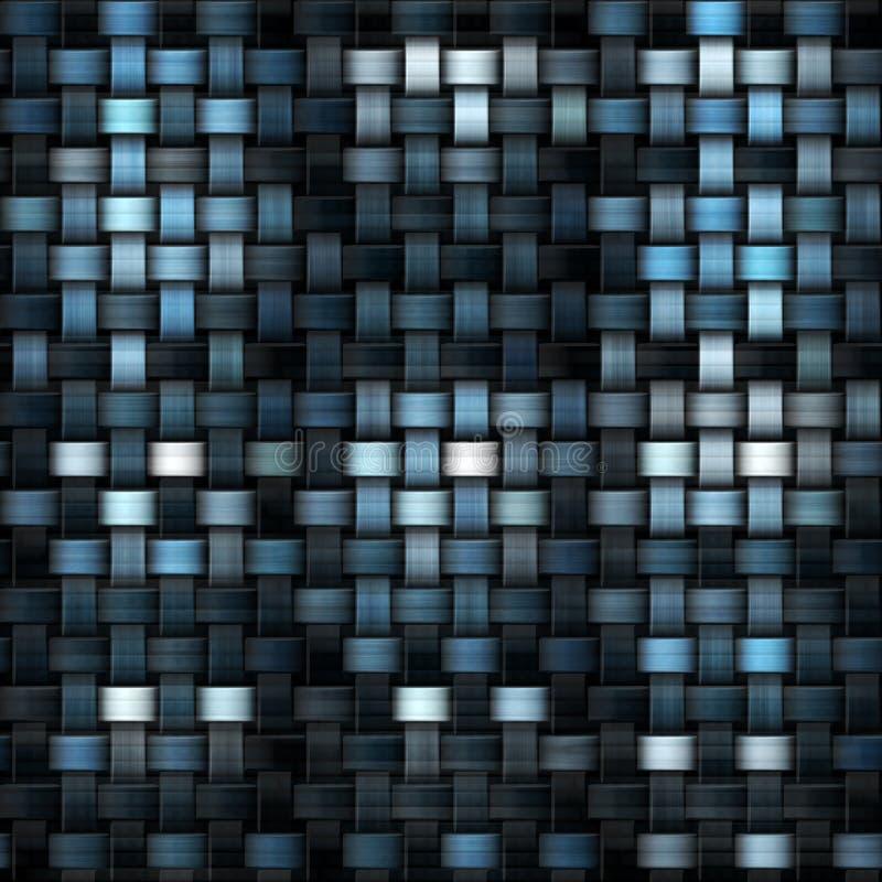 Tygtextur eller stickade plagg i blått och svart stock illustrationer