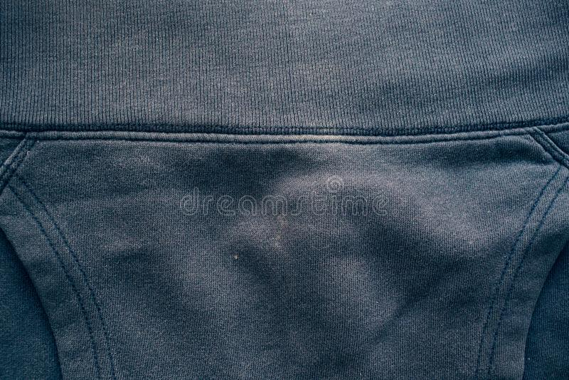 Tygtexturmörker - blå färggräns royaltyfri foto