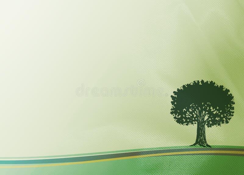 tygtree royaltyfri illustrationer