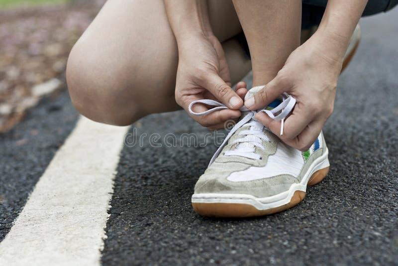 Download Tying Sports Shoe Stock Photos - Image: 23104533