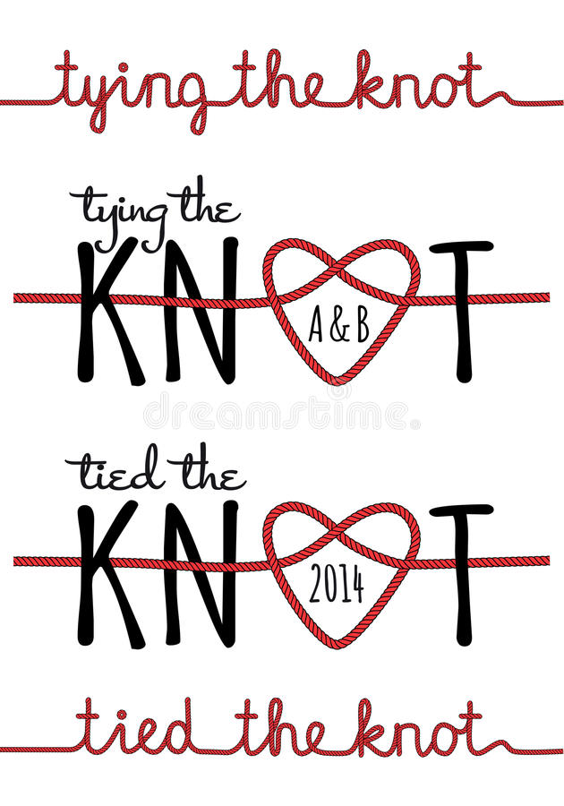 Free Tying The Knot, Vector Set Royalty Free Stock Image - 41872556