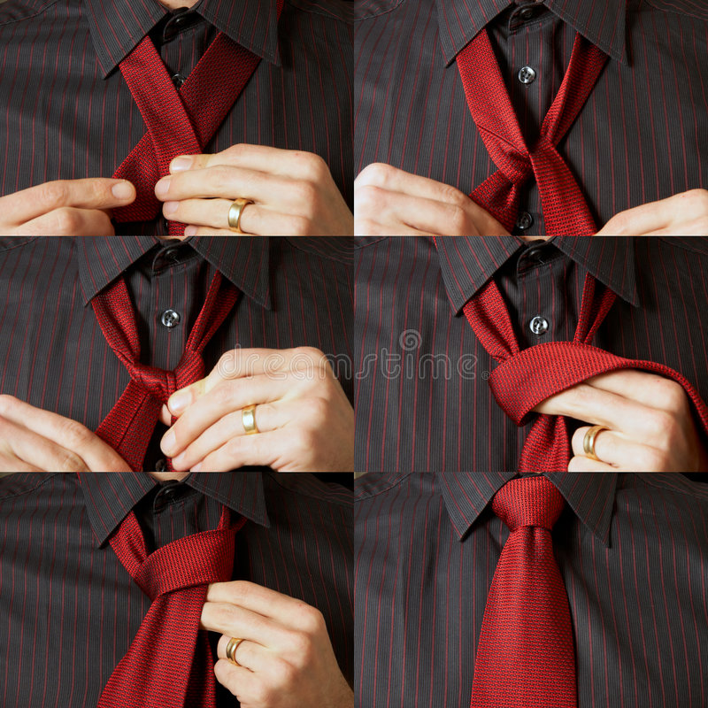 Download Tying A Tie Stock Images - Image: 7255774