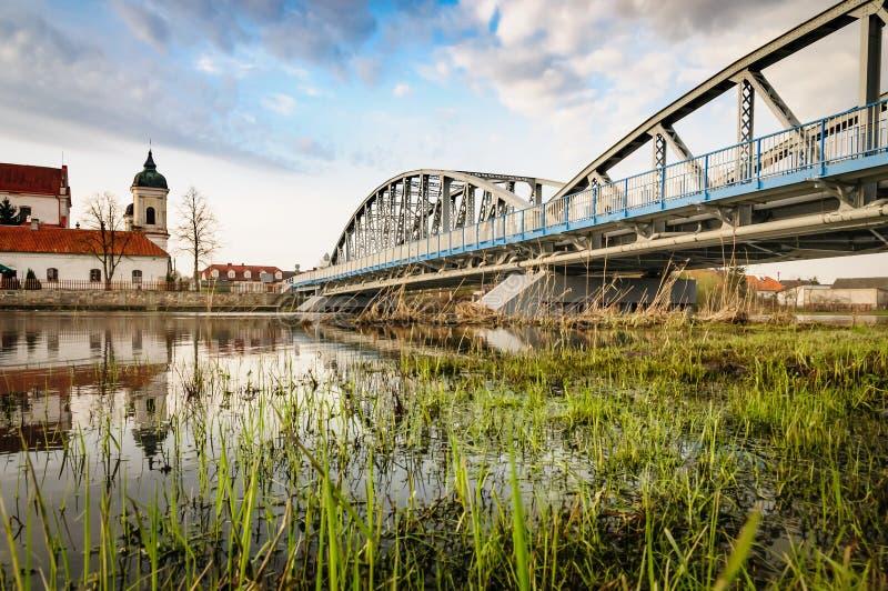 Tykocin door Narew rivier stock fotografie