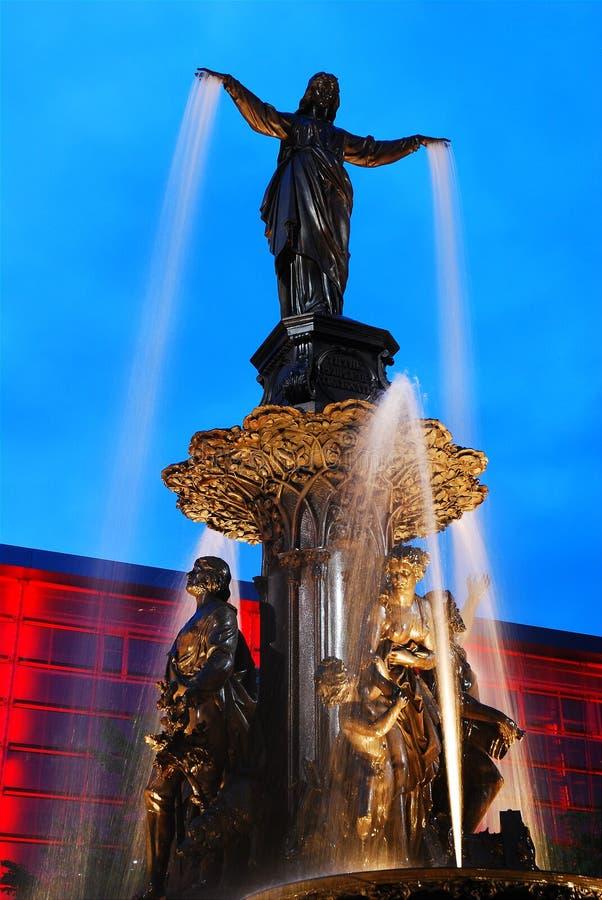 Tyler Davidson Fountain, Cincinnati. The Tyler Davidson Fountain in Cincinnati Ohio is one of the city`s more recognizable landmmarks stock image