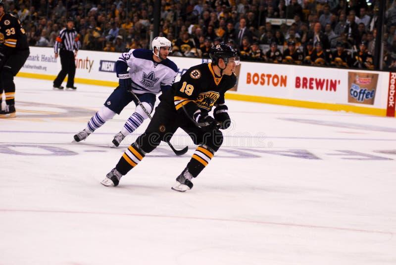 Tyler Seguin, Boston Bruins. Boston Bruins Rookie Forward, Tyler Seguin (19) against the Toronto Mapleleafs stock photos
