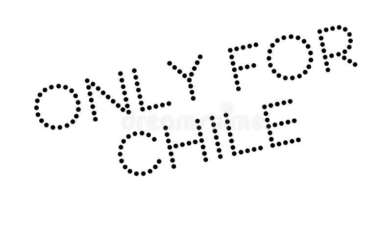 Tylko Dla Chile pieczątki ilustracja wektor