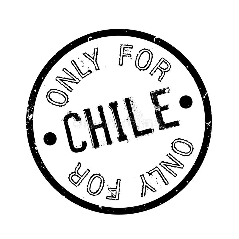 Tylko Dla Chile pieczątki royalty ilustracja