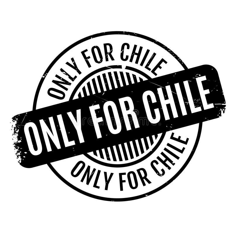 Tylko Dla Chile pieczątki ilustracji