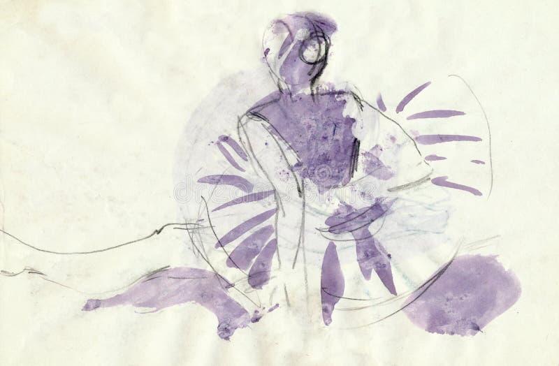 tylna balerina s ilustracji
