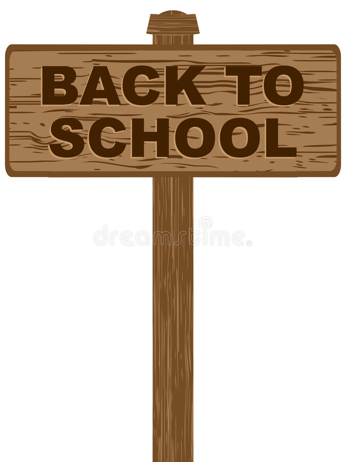 tylna banner do szkoły ilustracja wektor