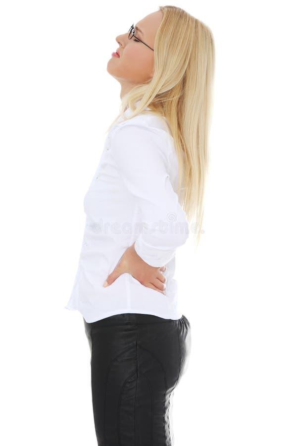 tylna biznesu bólu kobieta fotografia stock
