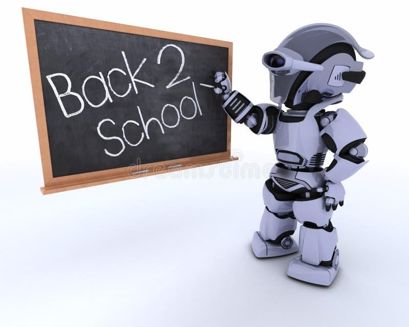 tylna deski kredy robota szkoła ilustracji