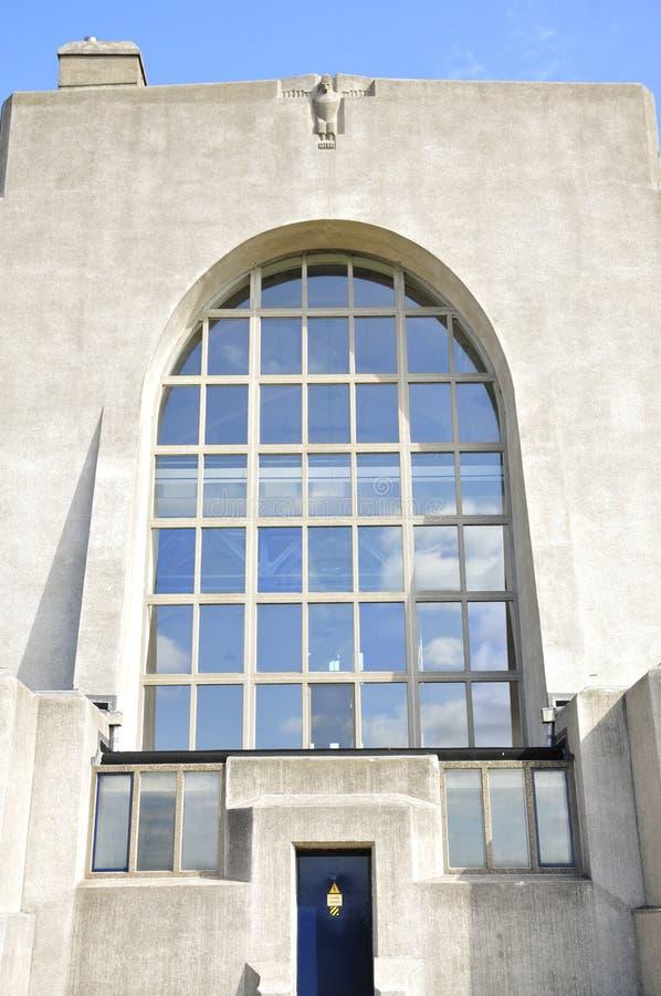 Tylna fasada Budować A radio Kootwijk holandie obrazy stock