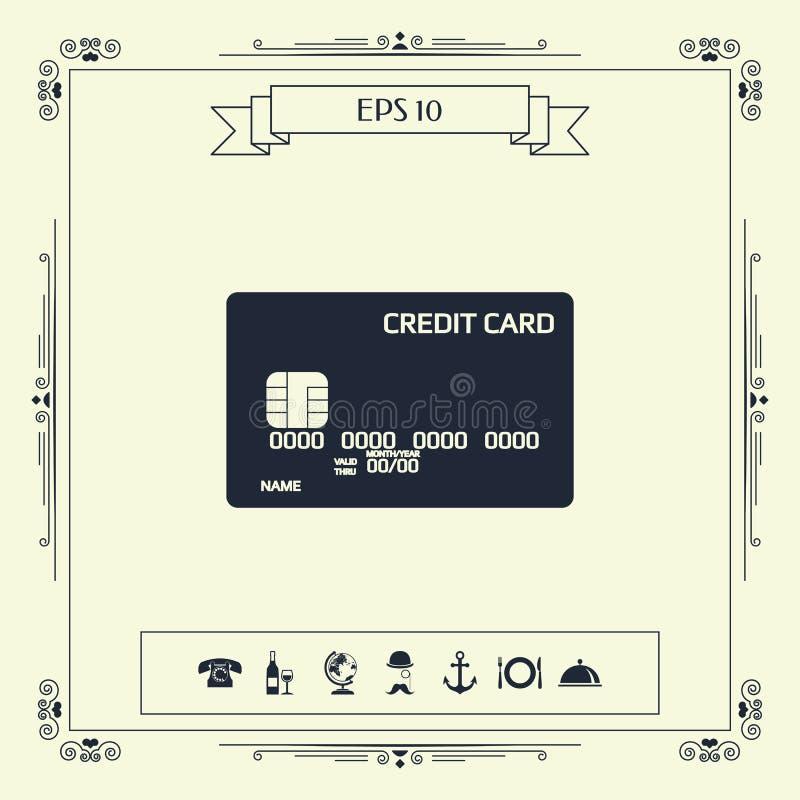 tylna karty kredyta przodu ikony strona ilustracji