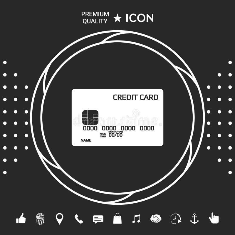 tylna karty kredyta przodu ikony strona royalty ilustracja