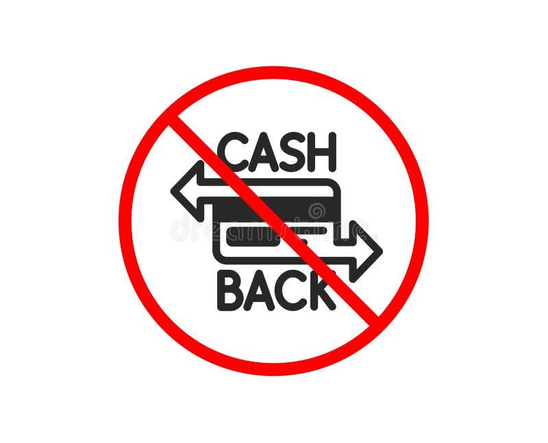 tylna karty kredyta przodu ikony strona Cashback usługa wektor royalty ilustracja