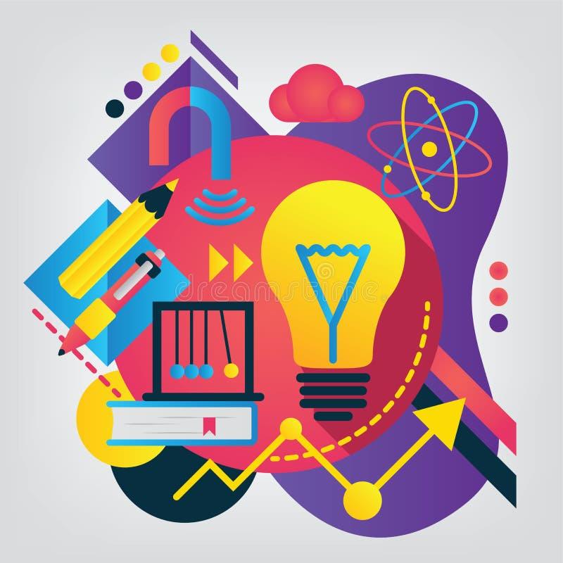 tylna koncepcji do szkoły fizyka ilustracja wektor