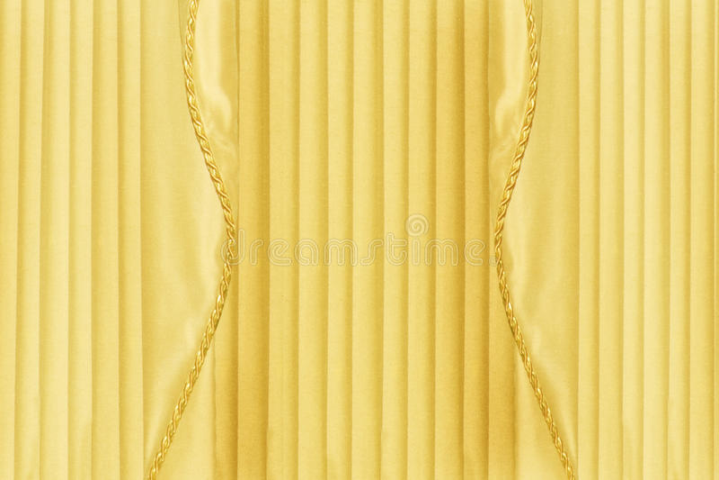 Tylna kropla Żółte zasłony lub Drapuje fotografia stock