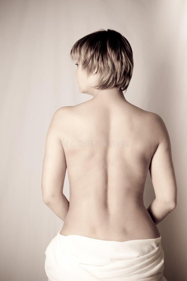 Tylna Piękna Czułości Kobieta Zdjęcie Royalty Free