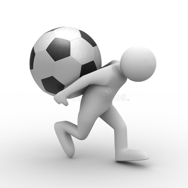 tylna piłka niesie mężczyzna ilustracji