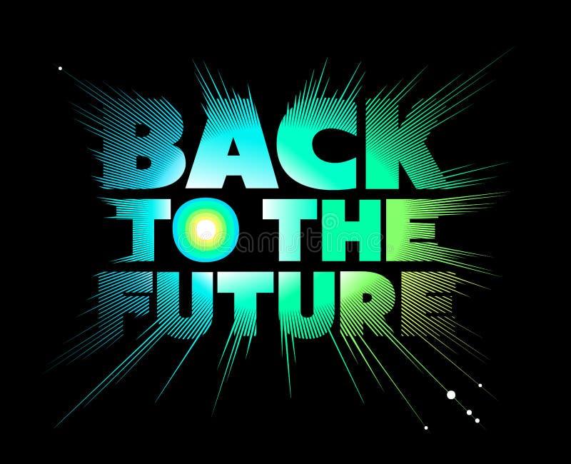 tylna przyszłość literowanie obraz stock