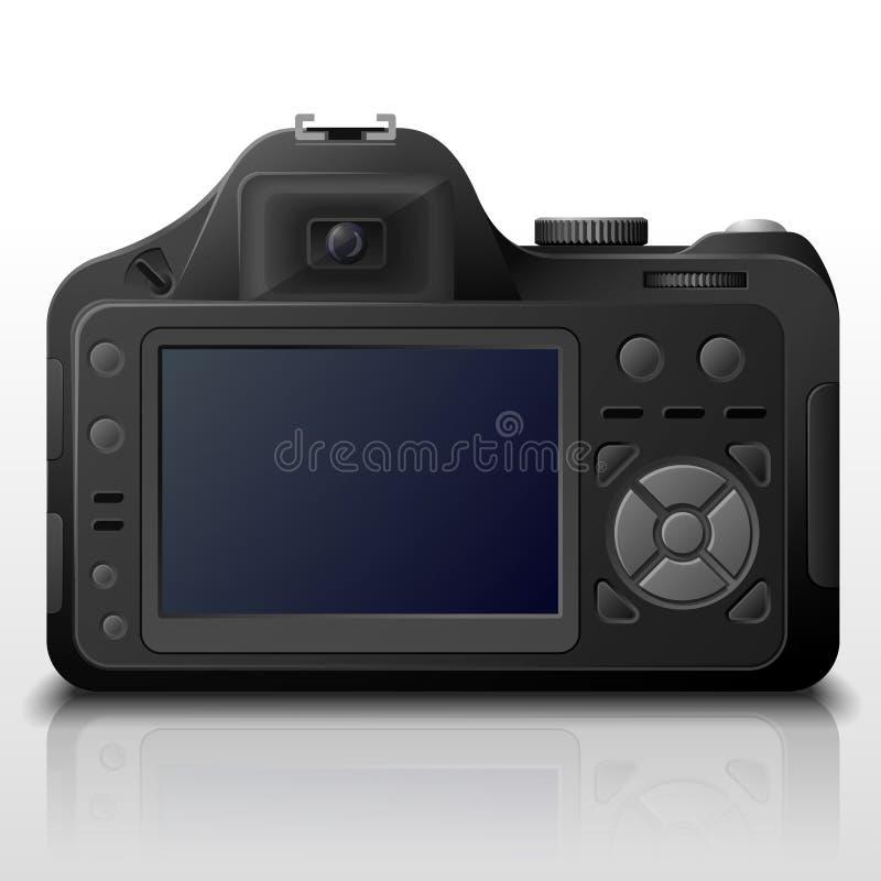 Tylna strona nowożytna cyfrowa kamera ilustracji