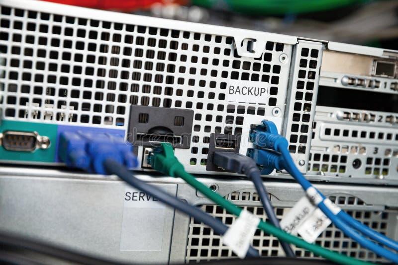 Tylna strona wspierającego serweru stacja obrazy royalty free