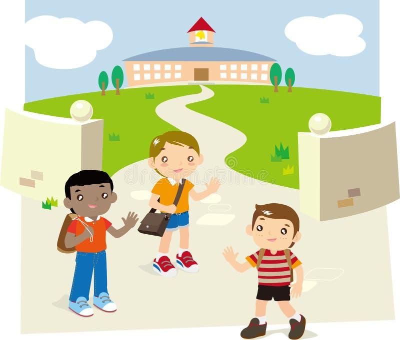 tylna szkoła ilustracji