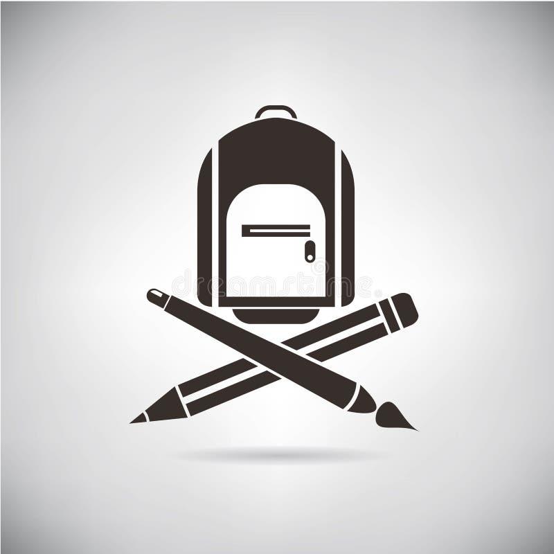 tylna szkoły royalty ilustracja