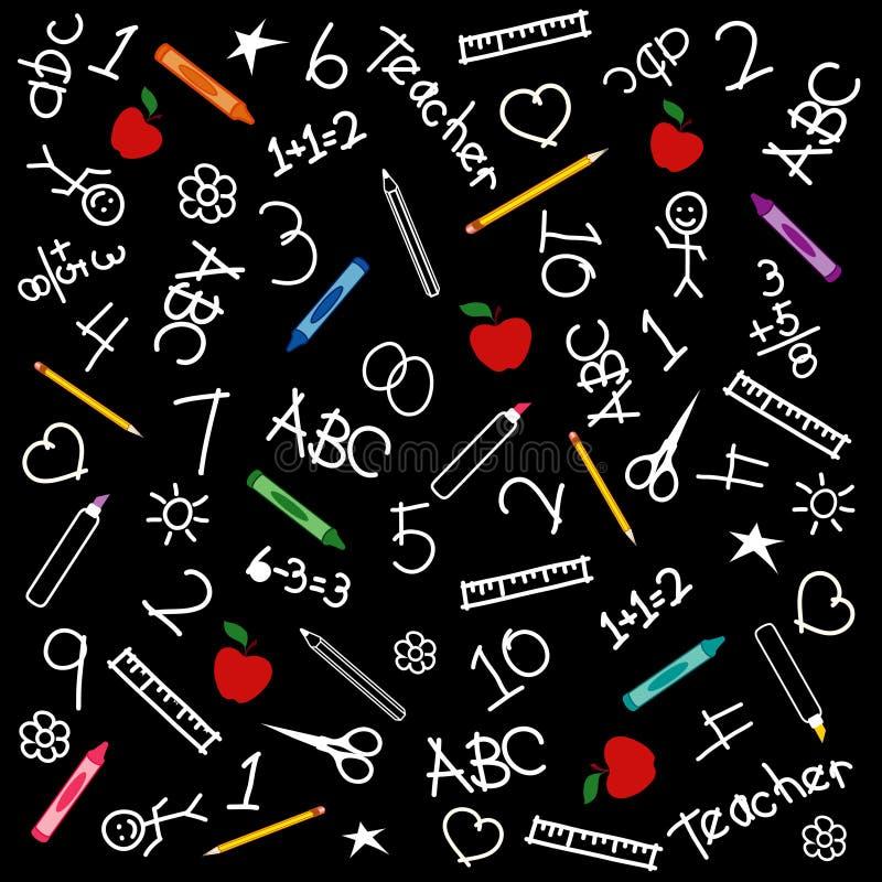 tylna tła chalkboard szkoła ilustracji