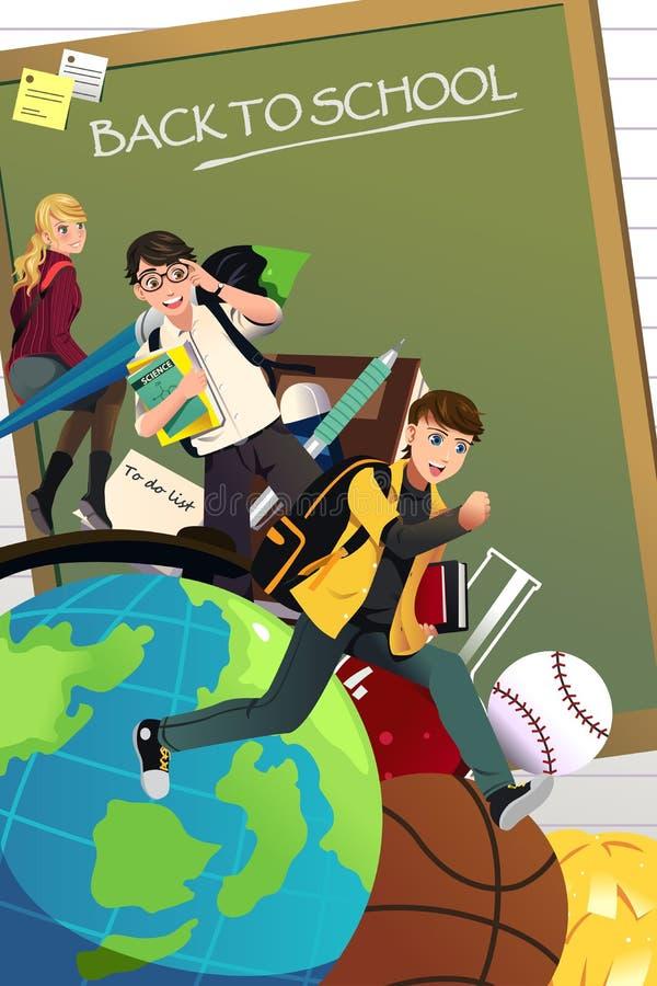 tylna tło do szkoły royalty ilustracja