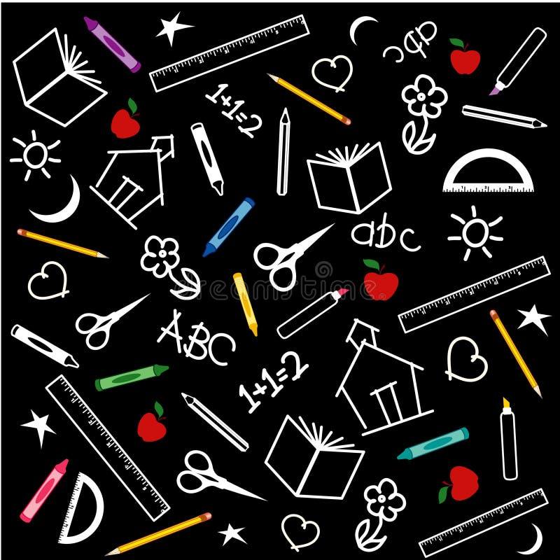 tylna tablica do szkoły ilustracja wektor