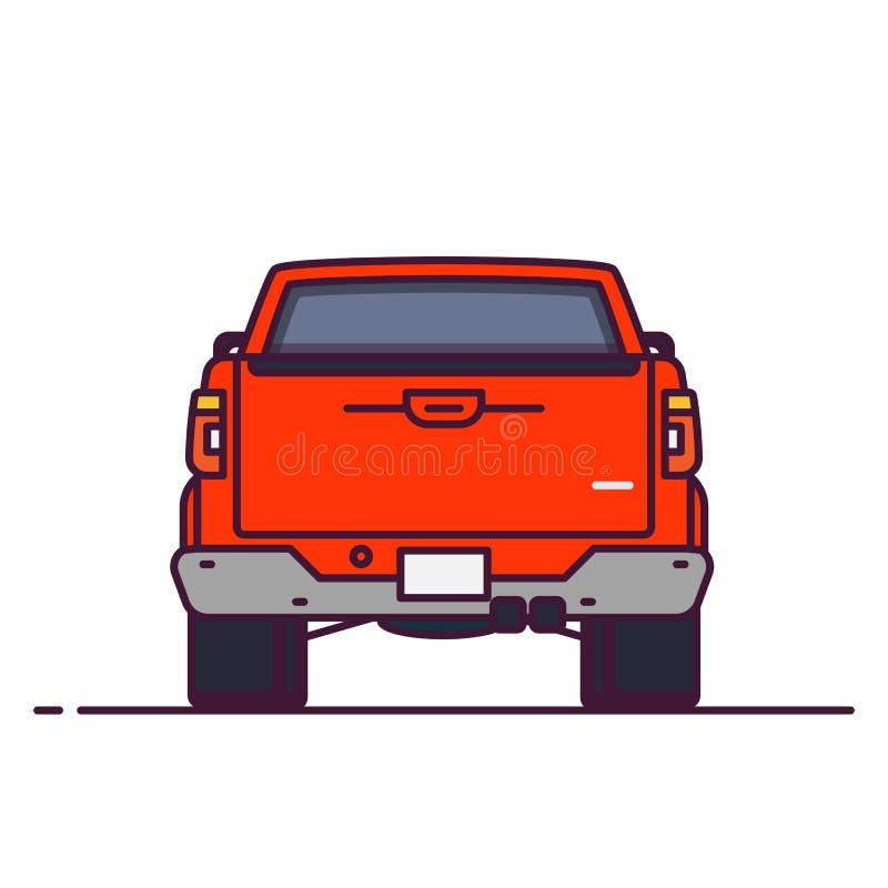 Tylna widok furgonetka royalty ilustracja