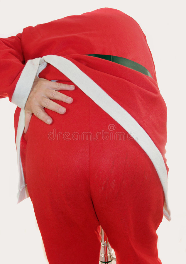 tylne Santas zdjęcia royalty free