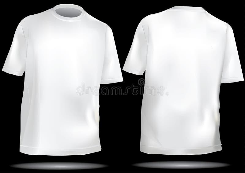 tylnego przodu koszulowy t szablon ilustracji