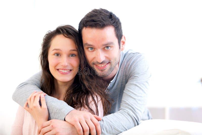 tylnej pary żeńscy szczęśliwi samiec portreta potomstwa obraz stock